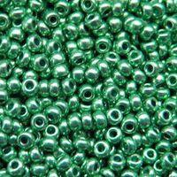 Бисер №18558, №10, Preciosa (Чехия), нефритовый металлик