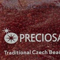 Бисер №90120, №10, Preciosa (Чехия), тёмно-бардовый матовый, прозрачный