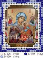 """Икона Божьей Матери """"Страстная"""" схема частичной вышивки на габардине"""