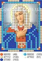 """Икона Божией Матери """"Умиление"""" схема вышивания бисером на ткани"""