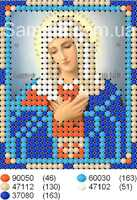 Икона Божией Матери Умиление схема вышивания бисером А7