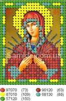 """Икона Божьей Матери """"Семистрельная"""" схема для вышивки бисером на ткани"""