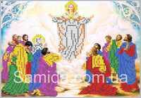 Вознесение Господне, А4-И2 схема-рисунок на габардине для вышивания бисером №10