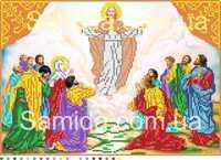 Вознесение Господне, А3-И2 схема-рисунок на габардине для вышивки бисером