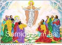 Вознесение Господне, А3-И1 схема-рисунок на габардине для вышивки бисером