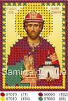 Святой благоверный князь Роман схема с рисунком для вышивки бисером
