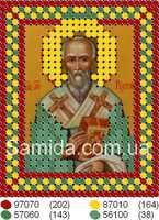 Святой мученик Рустик (Руслан) схема для вышивки бисером на габардине