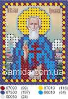 Святой преподобный Сергий Радонежский схема для частичной вышивки на габардине