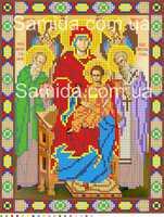 Божия Матерь Экономисса «Домостроительница» А4-13 схема-рисунок полноцветная на габардине для частичного вышивания бисером