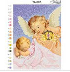Ангел хранитель, ТА-002 схема-рисунок для вышивки бисером на атласе