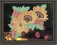 Подсолнухи, VKA-3011 схема-рисунок полноцветная на габардине для вышивания бисером(нитками)