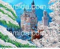 Зимний Замок, А3-1 схема-рисунок на габардине для вышивки бисером