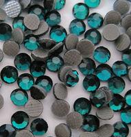 Стразы DMC (Thermal adhesive)тёмный изумруд, прозрачный