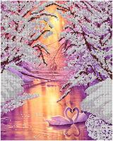 Вечная любовь, АК3-058 схема на атласе для вышивки бисером, формат А-3 частичная зашивка