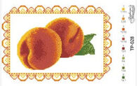 Спасовская салфетка, ТР-028 схема-рисунок для вышивки бисером на атласе