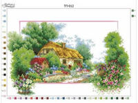 Весна, ТП-012 схема-рисунок на атласе для вышивки бисером формат А-2