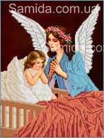 Ангел Хранитель А3-1 схема с рисунком для частичной вышивки бисером