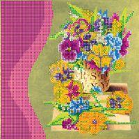 Цветочный аромат АС-032 схема с рисунком на художественном холсте для частичной вышивки бисером