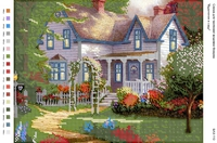 Домик в саду схема на атласе для вышивки бисером БА3-110