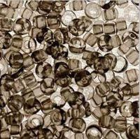 Бисер №01141, №10, Preciosa (Чехия), серый, прозрачный