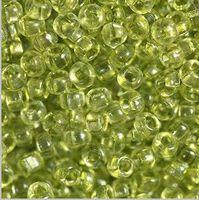 Бисер №01152, №10, Preciosa (Чехия), прозрачный оливковый