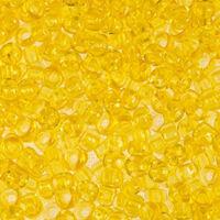 Бисер №01181, №10, Preciosa (Чехия), прозрачный желтый
