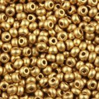 Бисер №01710, №10, Preciosa (Чехия), золото металлизированный, непрозрачный