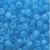 Бисер №02134, №10, Preciosa (Чехия), голубой алебастровый