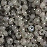 Бисер №02141, №10, Preciosa (Чехия), серый алебастровый, непрозрачный