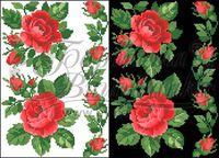 ФЛ045 водорастворимый флизелин - Розы