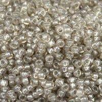 Бисер №08149, №10, Preciosa (Чехия), серый, полупрозрачный