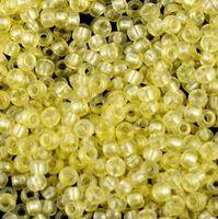 Бисер №08186, №10, Preciosa (Чехия), светло-желтый, полупрозрачный