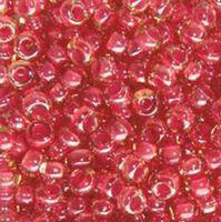 Бисер №11396, №10, Preciosa (Чехия), розовый, полупрозрачный, хамелеон