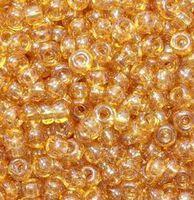 Бисер №16050, №10, Preciosa (Чехия), бежевая глазурь, полупрозрачный