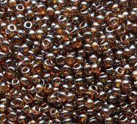 Бисер №16090, №10, Preciosa (Чехия), янтарно-коричневая глазурь, полупрозрачный