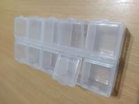 Органайзер прямоугольный, пластик прозрачный на 15 ячеек для бисера
