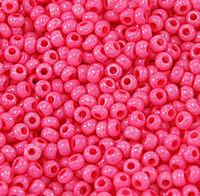 Бисер №16398, №10, Preciosa (Чехия), розовый насыщенный глянцевый, непрозрачный