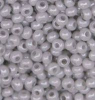 Бисер №16541,№10, Preciosa (Чехия) светло-серый(серый мел), непрозрачный