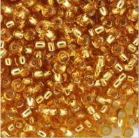 Бисер №17050, №10, Preciosa (Чехия), светло- коричневое золото, полупрозрачный