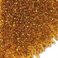 Бисер №17070, №10, Preciosa (Чехия), янтарное золото, блестящий