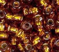 Бисер №17090, №10, Preciosa (Чехия), золото, полупрозрачный