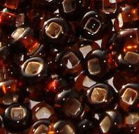 Бисер №17140, №10, Preciosa (Чехия), тёмно-коричневое золото, полупрозрачный