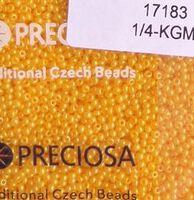 Бисер № 17183,№10, Preciosa(Чехия), оранжевый насыщенный жемчужный, непрозрачный
