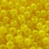 Бисер №17386, №10, Preciosa (Чехия), желто-лимонный жемчужный, непрозрачный