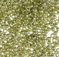 Бисер №18154, №10, Preciosa (Чехия), бледно оливковый, металлизированный, непрозрачный