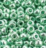 Бисер №18165, №10, Preciosa (Чехия), бирюзовый, металлизированный, непрозрачный