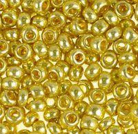 Бисер №18181, №10, Preciosa (Чехия), золотой металлик, непрозрачный