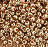 Бисер №18184, №10, Preciosa (Чехия), красное золото, металлизированный, непрозрачный