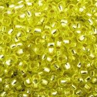 Бисер №18286, №10, Preciosa (Чехия), желтый, блестящий, прозрачный