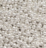 Бисер №18302, №10, Preciosa (Чехия), серебро, металлизированный